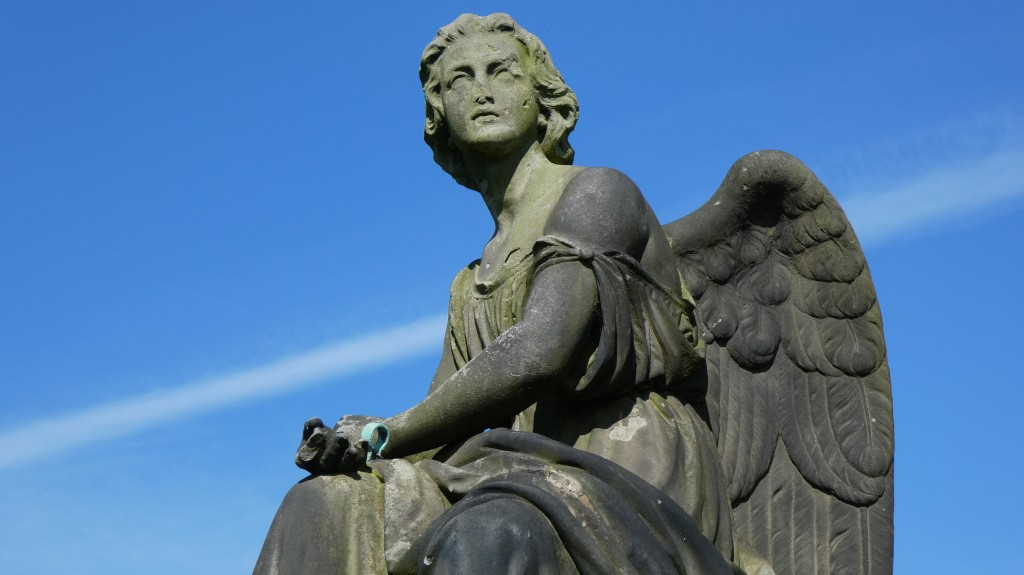 Picture of an angel statue